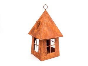 3368183-00000 Windlicht Haus rost