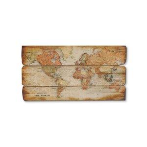 3216035-00000 Wanddeko Weltkarte
