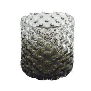 3245850-00000 Glasvase grau/klar