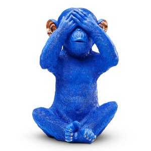 "3270691-00000 Spardose ""Monkey Mizaru"" blau"