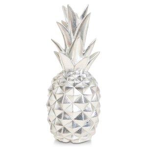 3364568-00000 Ananas Polyresin silber