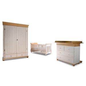 3550164-00000 Babyzimmer 4-tlg. weiß/antik