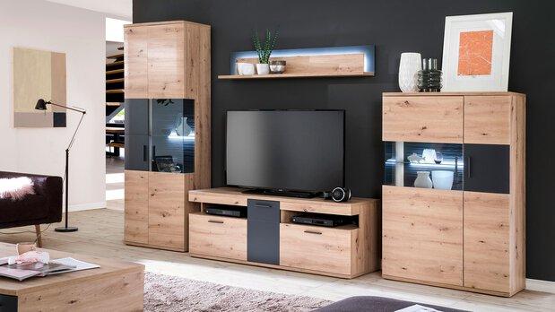 Wohnzimmer Wohnwand Cortona MCA furniture