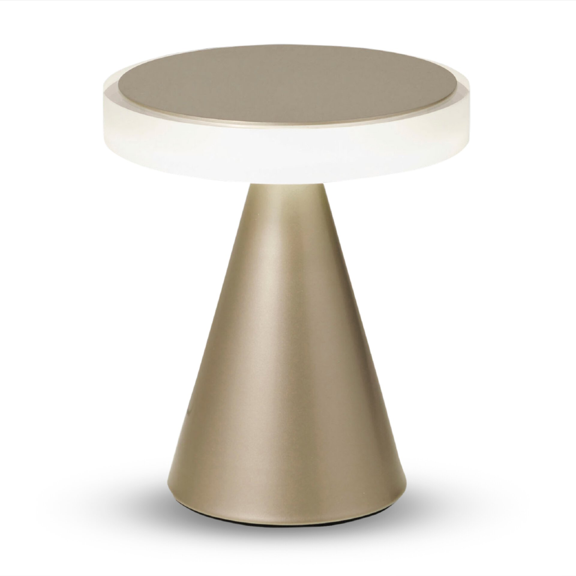 Dimmbare LED-Tischleuchte, satiniertes Acrylglas