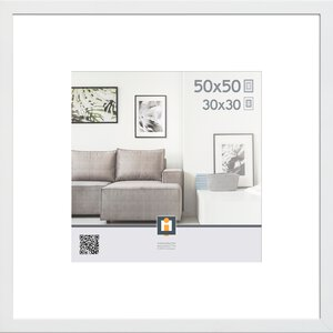 3148409-00000 Holzrahmen Göteborg, weiß, 50